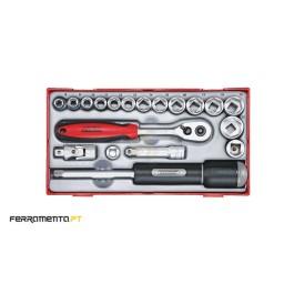 Conjunto de chaves de caixa 3/8'' Teng Tools TT3819